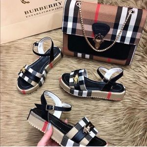 Shoes - Burberry sandals and purse set
